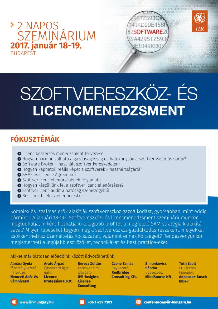 Szoftvereszköz és licencmenedzsment
