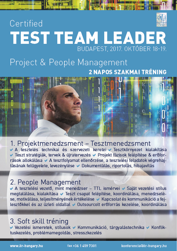 Test team leader