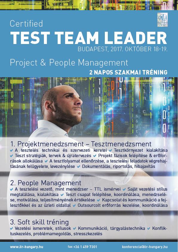Test team leader