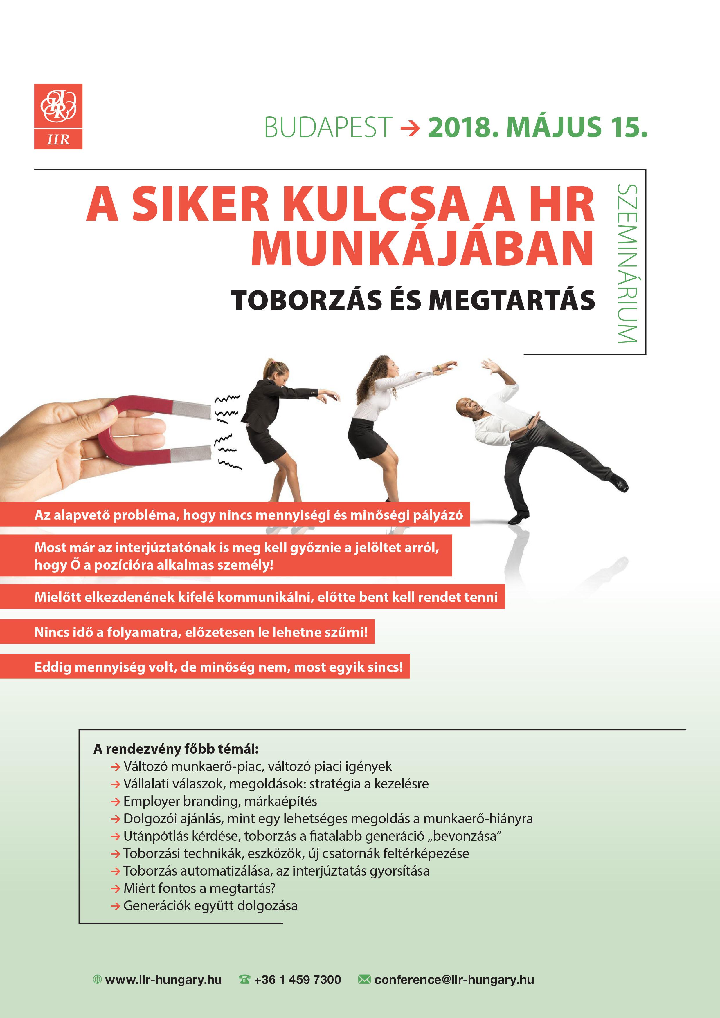 Siker kulcsa a HR munkájábab