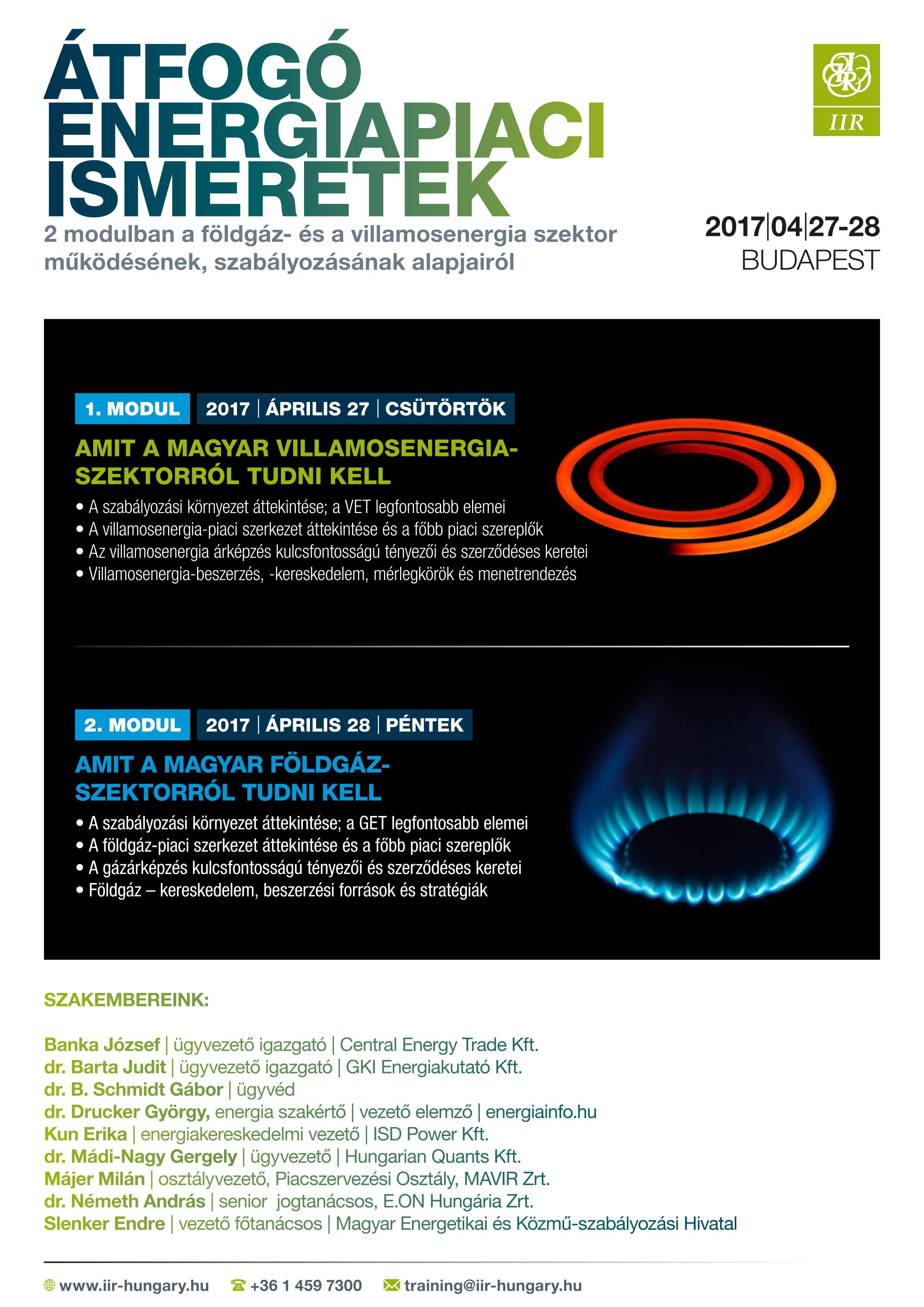 Átfogó energiapiaci ismeretek