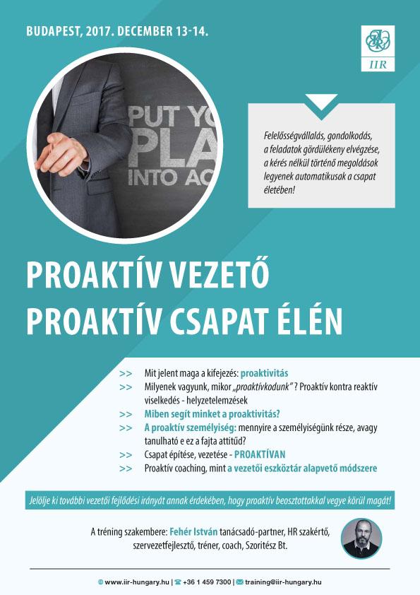 Proaktív vezető